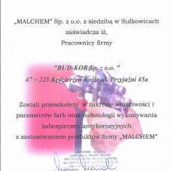 MALCHEM---CERTYFIKAT-WYKONAWCY-DLA-BUD-KOR-SP-ZO-O-1
